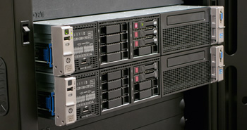 HP ProLiant DL380p back view